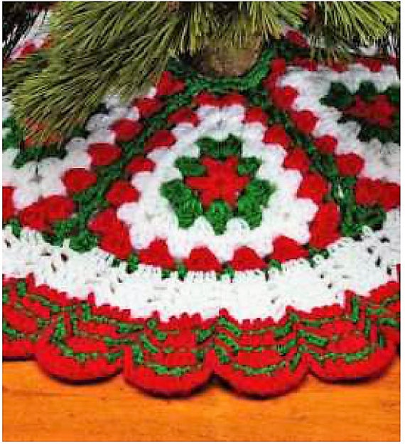 Vintage Crochet Pattern Quick Easy Granny Square Christmas Etsy