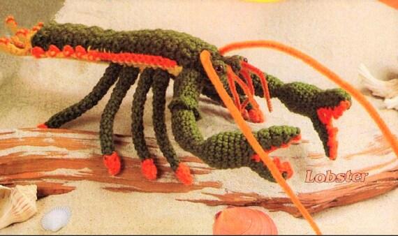 Vintage Crochet Lobster Pattern Pdf Instant Digital Download Etsy