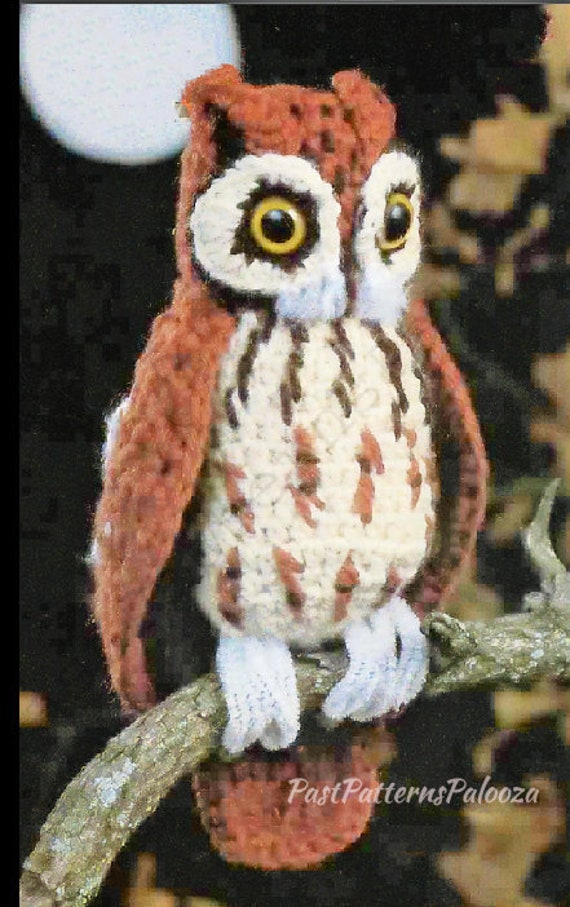 Vintage Crochet Pattern 11 Small Screech Owl Pdf Instant Etsy