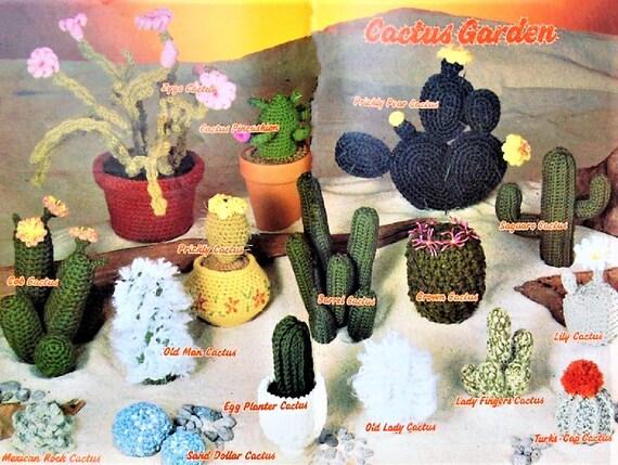Cactus Garden Free Crochet Pattern in 2020 | Crochet succulent ... | 429x570