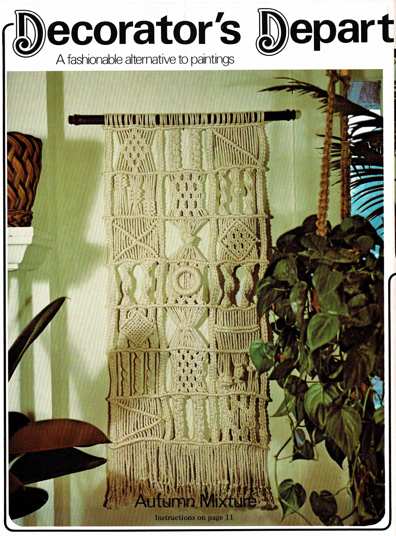 Vintage Macrame Pattern Large Patchwork Sampler Wall Hanging | Etsy