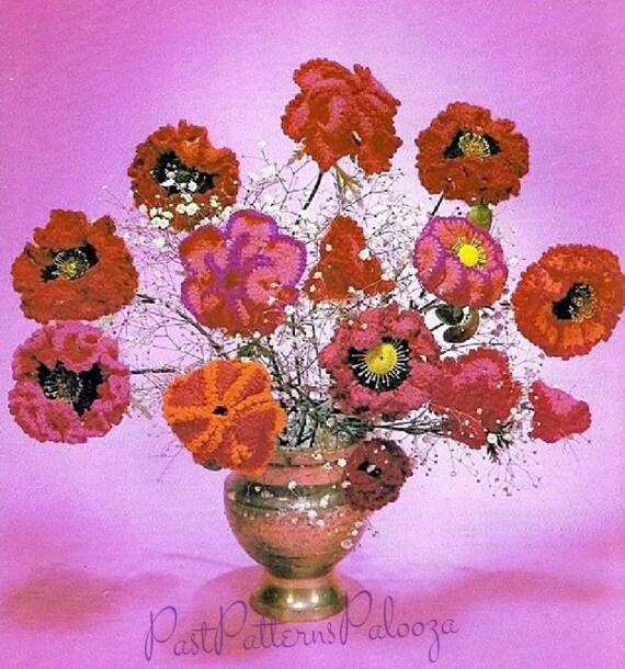 Vintage Crochet Pattern Japanese Poppy Japanese Iris
