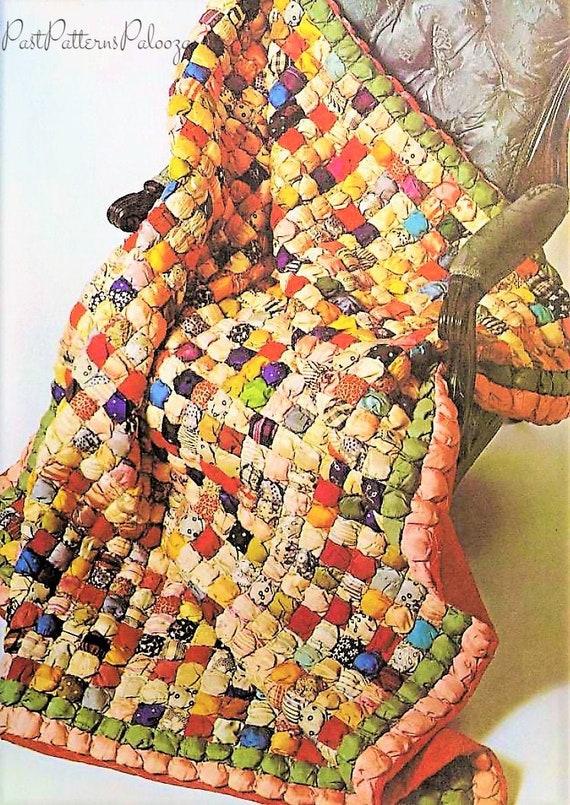Vintage Sewing Pattern Antique Silk Puff Biscuit Patchwork