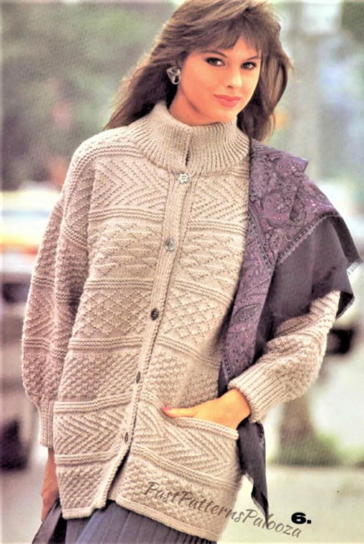 b76a5a7d9 Vintage Knitting Pattern Womens Knit Textured Sampler Panel