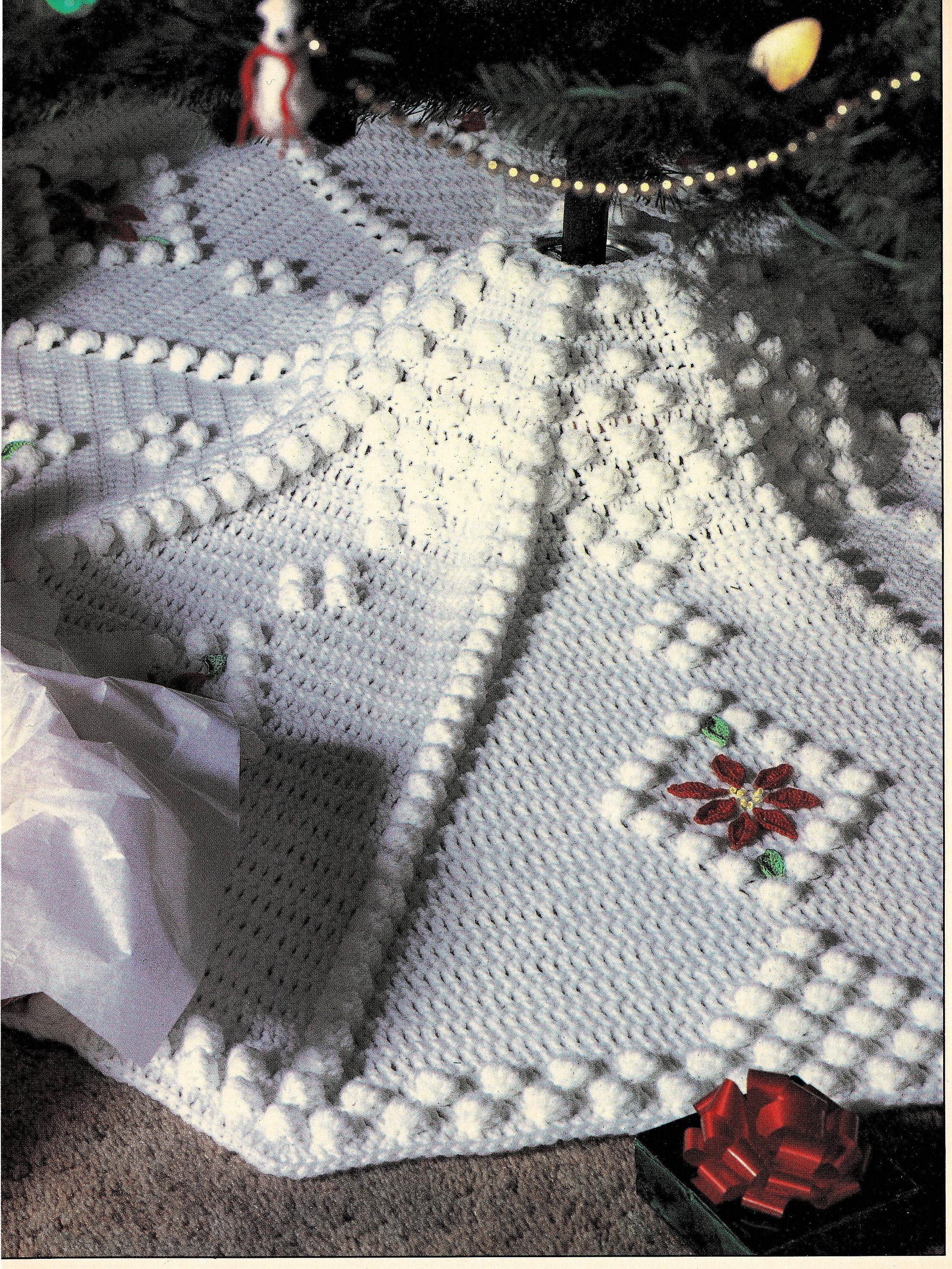 Vintage Crochet Snowdrift Tree Skirt Pattern Pdf Instant Etsy