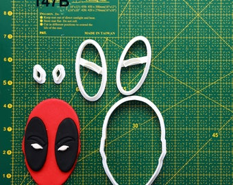 Deadpool Cookie Cutter Deadpool Fondant Cutter Deadpool Party  Deadpool Birthday Deadpool Baby Deadpool Cake Topper Deadpool Invitation