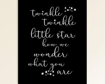 Printable Gender Reveal Sign   Baby Shower   Twinkle Star   Nursery Print   Instant Download