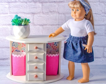 Miniature Jewelry Box w// Handle for AG American Doll 18inch Doll Accessories