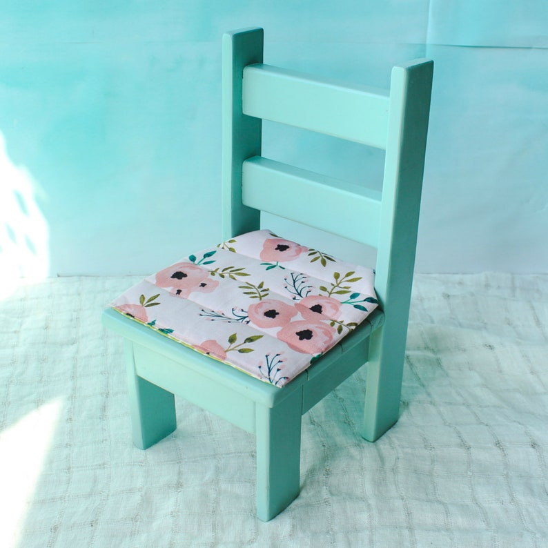 18 Inch Doll Chair And Cushion American Girl Furniture American Girl Seat Doll Chair Doll Seat