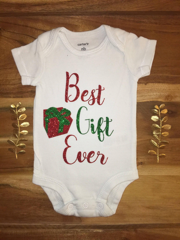 ba195fedb Best Gift Ever Onesie Christmas onesie. Baby girl onesie | Etsy