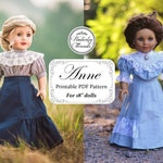 PDF Pattern Anne Shirtwaist and Skirt for 18 inch dolls