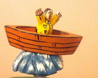 Amazing Folk Art Whale by renowned Canadian folk artist Kerras Jeffery