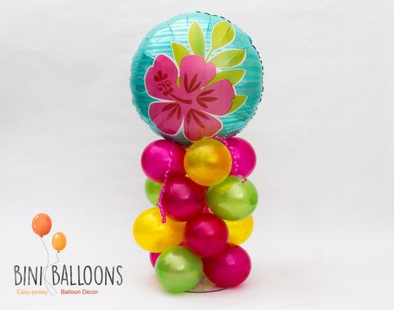 Luau Centerpiece Luau Decoration Tropical Party Balloon Decor