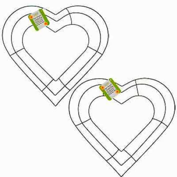 Two Heart Wreath Frames Wedding Valentine 12 Wire Wreath Etsy