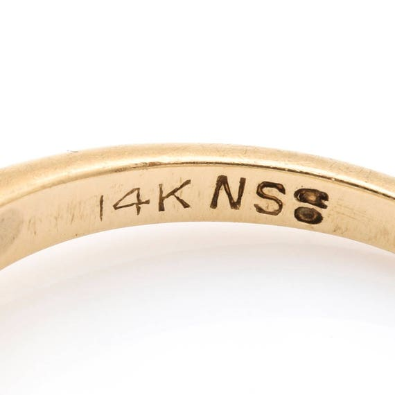 14K Yellow Gold Diamond Solitaire Ring - image 6
