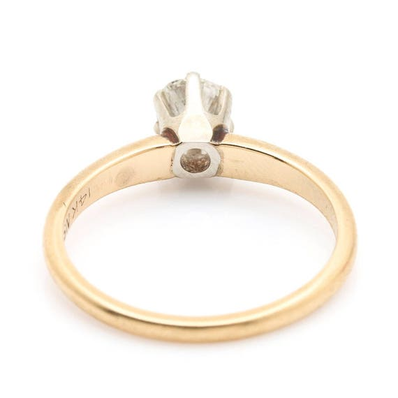 14K Yellow Gold Diamond Solitaire Ring - image 3