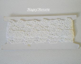 White lace embroidered