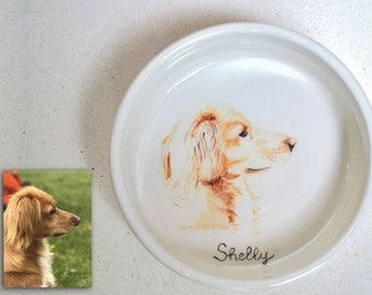 Bowls for pets, dogs, cats, ceramics, custom, made to order, custom, animals, bowl, handmade, customized, portrait