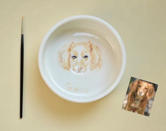 Bowls for pets, dogs, cats, ceramics, custom, made to order, custom, animals, bowl, hand made, customized, pet