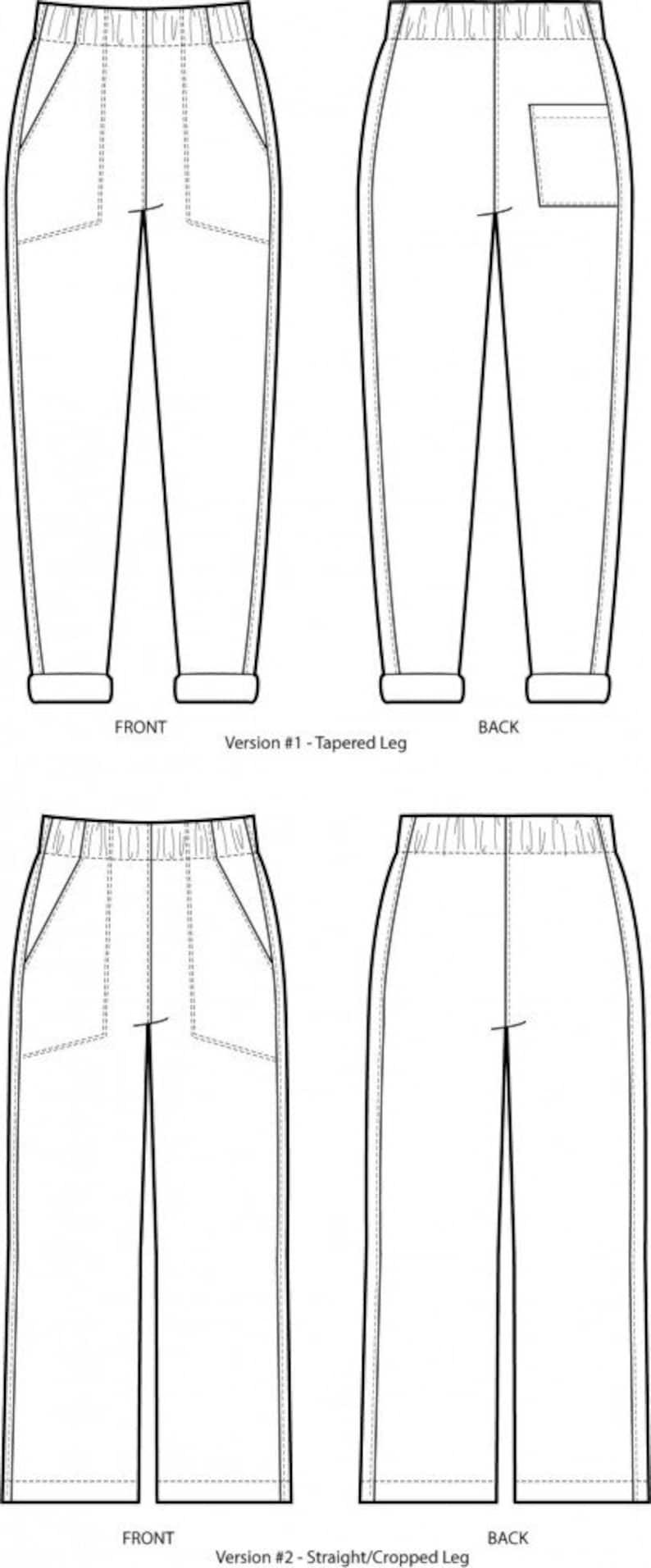 Sew House Seven Paper Sewing Pattern #130 Free Range Slacks UK Sizes 4-24 or Curvy 22-38