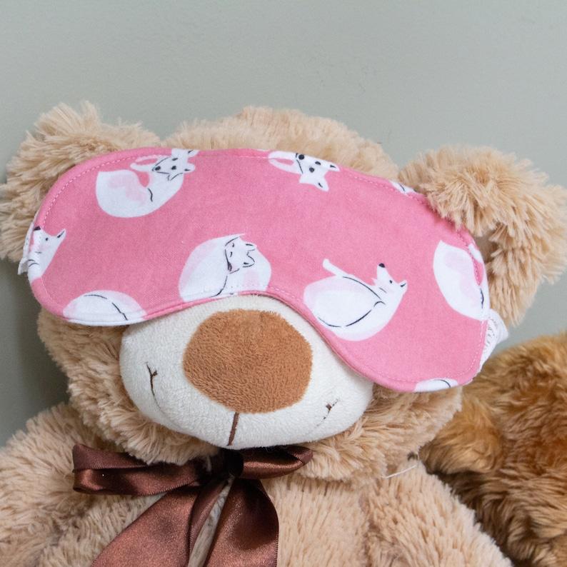 Organic Brushed Cotton Sleep Mask /'Arctic Fox/'