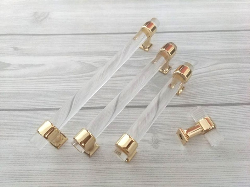 3.75 5 6.3 Acrylic Drawer Pull Handles Knobs image 0