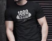1000 lb Club T-Shirt. Weightlifting Shirt Women Men. Funny Deadlifting Gift. Workout Shirt. Gym Tshirt. Training Shirt. Unisex T-Shirt