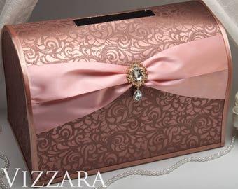 blush pink card box etsy