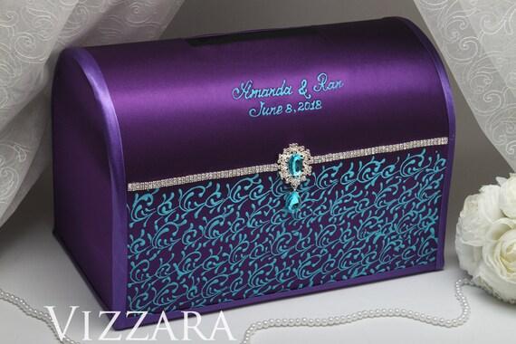 Wedding Card Holder Purple Wedding Wedding Card Holder Ideas Purple And Blue Wedding Wedding Box Card Holder Turquoise And Purple Wedding