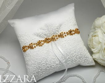pillow for wedding ring holder gold wedding white ring bearer for Wedding pillow ring bearer pillow Wedding Accessories pillow for ceremony