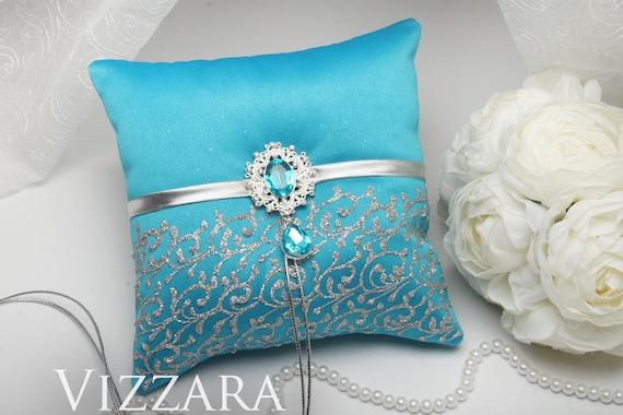 Ring Bearer Pillow Turquoise wedding Ring bearer pillow ideas   Etsy