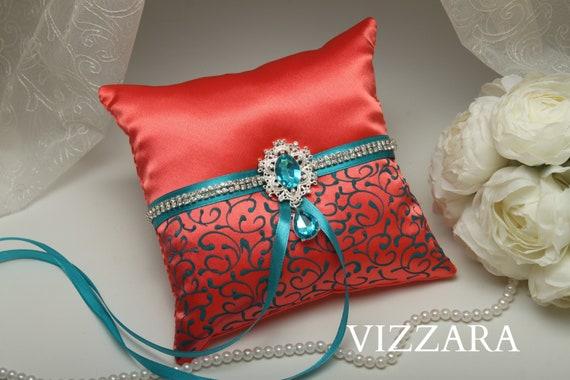 Ring bearers pillows Coral wedding Ring bearer pillow ideas | Etsy