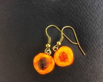Earrings peach ripe gourmet