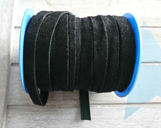 Black split. 10x2mm sale for 1 meter. High quality European serraje