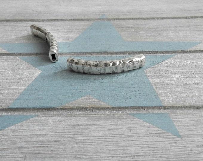 Irregular curved tube. for DIY bracelet
