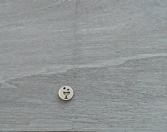 First Communion pendant. Zamak Silver Bath. 13mm. DIY