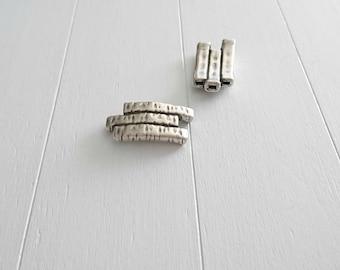 Flat triple pin. 34x18mm Zamak bathroom silver. DIY