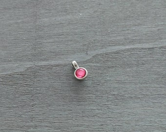 1 Round rose resin pendant. 16x10mm pendant for jewelry and necklaces. metal zamak silver