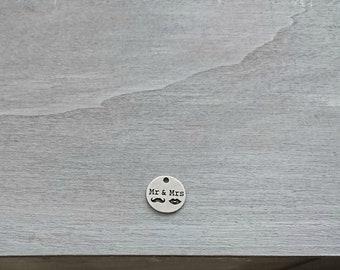 """Pendant """"Mr & Mrs"""". 20mm zamak DIY"""