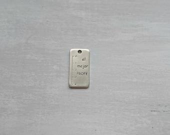 Keychain pendant. rule the best PROFE. XL 46x24mm