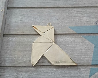 Pendant Origami bow-XL- 55x60mm.-DIY material - Jewelry supplies