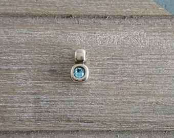 1 blue swarovski pendant. 14x7mm. pendant for bracelet or necklace.