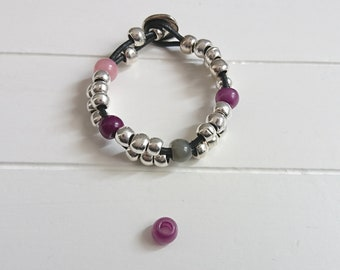 Bead resin ball. purple opaque. 5 units.