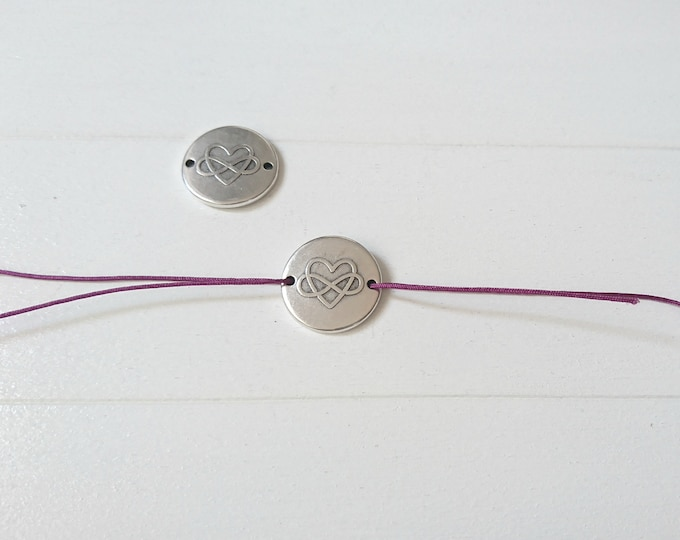 Infinity round connector 20mm. DIY bracelet