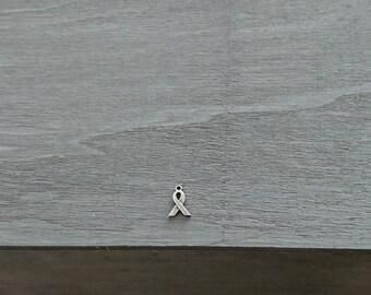 Loop pendant.15x9mm. DIY silver zamak