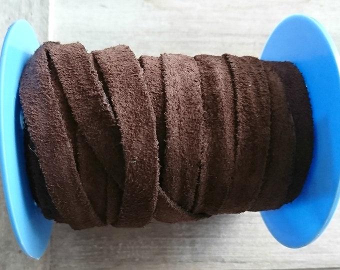 Brown split. 10x2mm sale for 1 meter. High quality European serraje