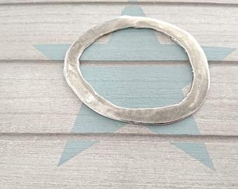 Pewter stamping blanks. Irregular bracelet approximate diameter 65x55mm. metal blanks