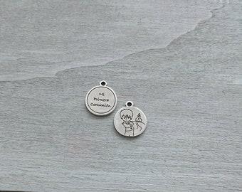Child First Communion pendant. 22mm. Zamak. Diy.