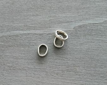 Irregular ring pin. Zamak Silver Bath. 10x13mm. DIY