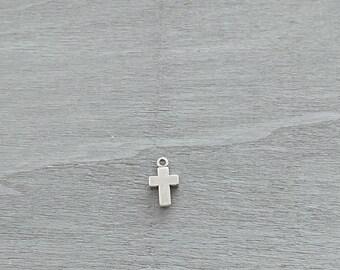 Cross pendant. 21x15mm. Zamak. Diy.
